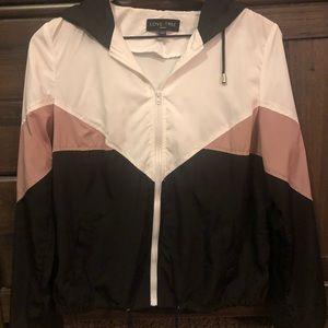 Zipper jacket with hood
